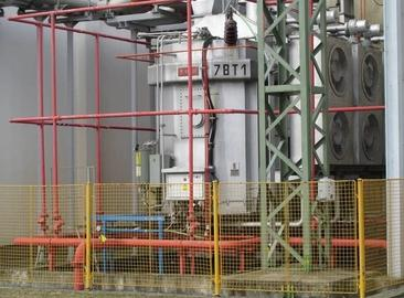 Replacement of stable fire extinguishing equipment pipes on transformers and additional protection of conservators at the Temelín NPP