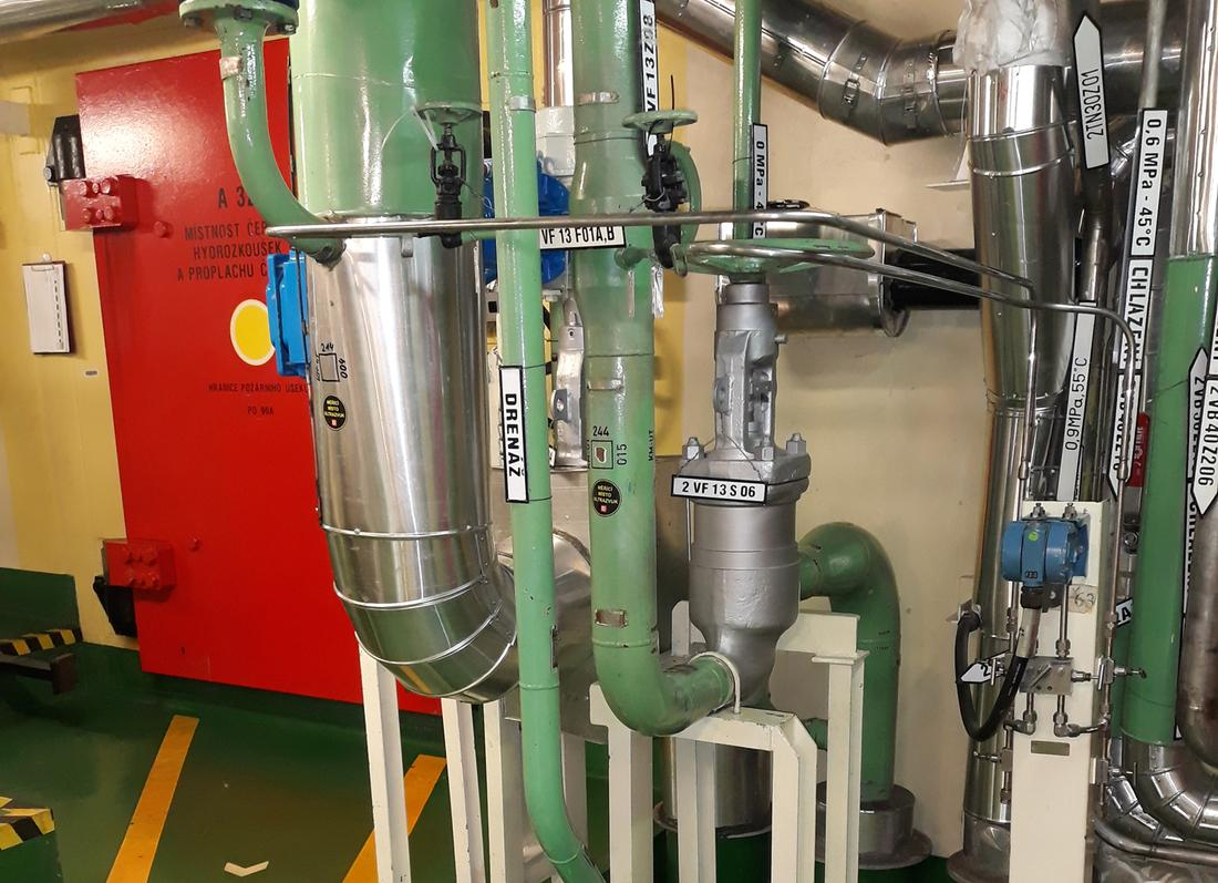 Replacement of essential service water (ESW) pipelines for cooling air-conditioning units and other appliances at the main production unit at the Temelín NPP